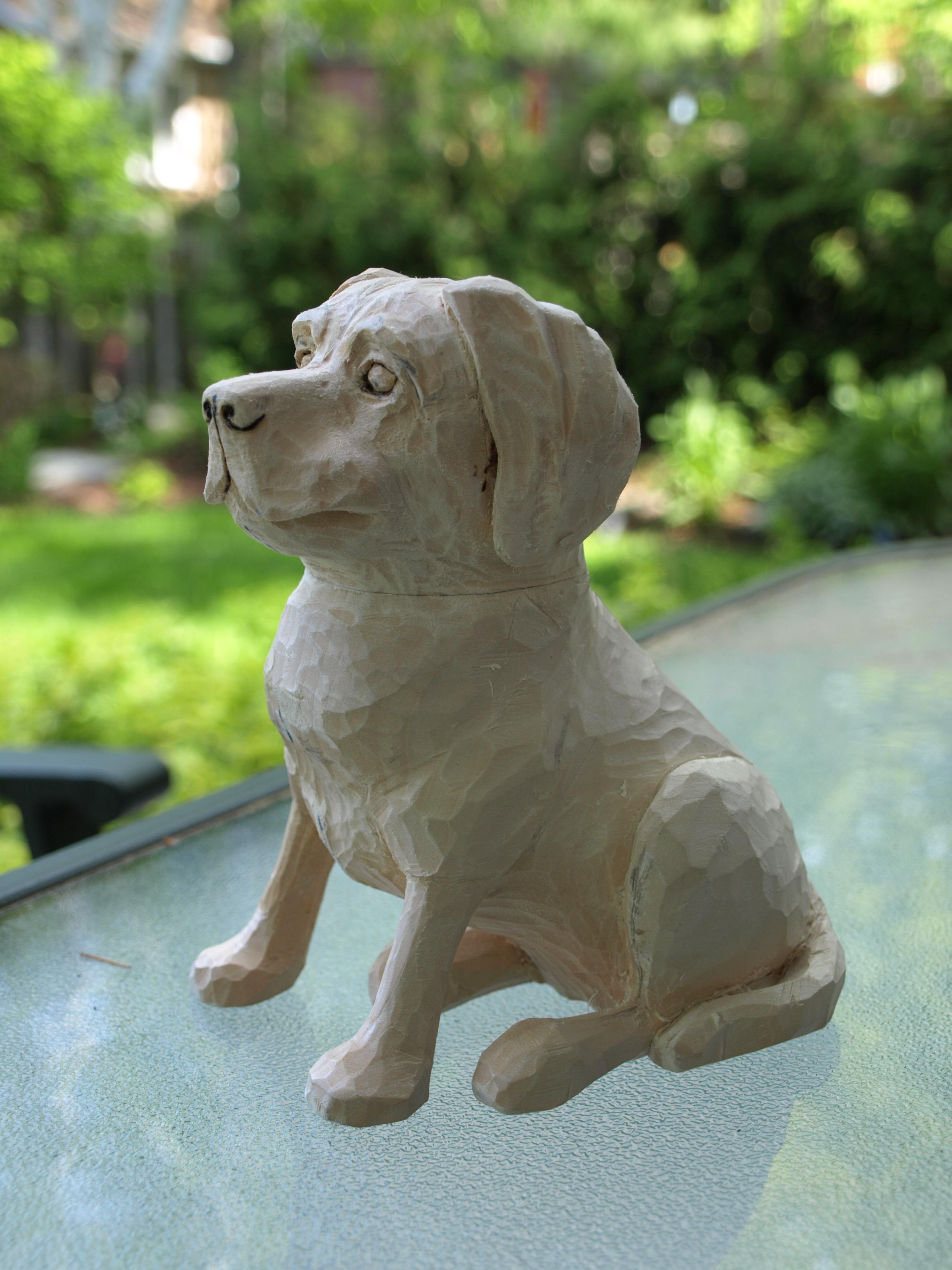 Labrador retriever carving tributesinwood