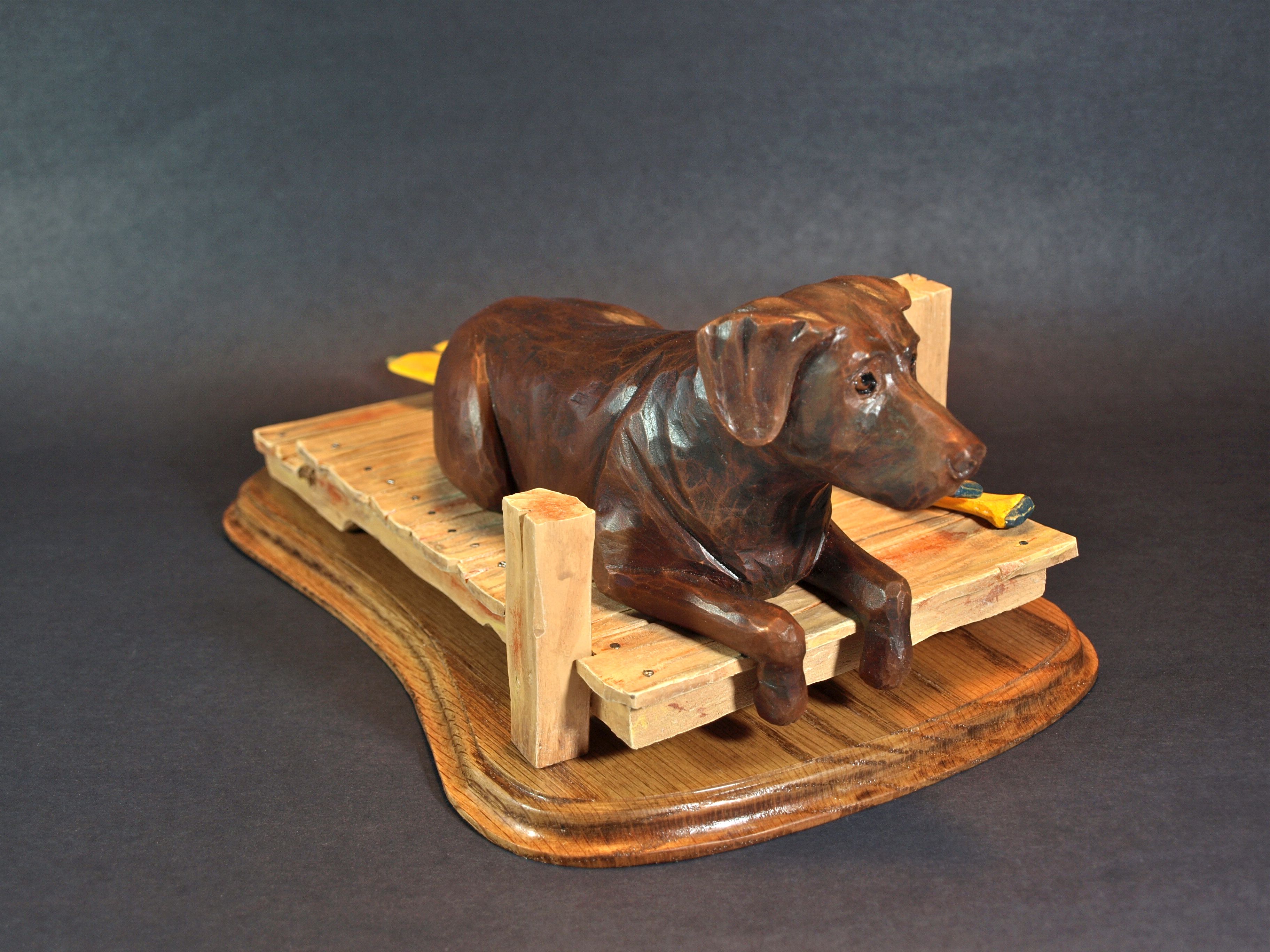 Rolling caricature animals woodcarving illustrated